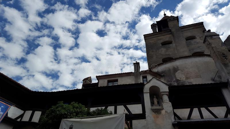 Het middeleeuwse Zemelenkasteel in Brasov, Roemenië royalty-vrije stock foto
