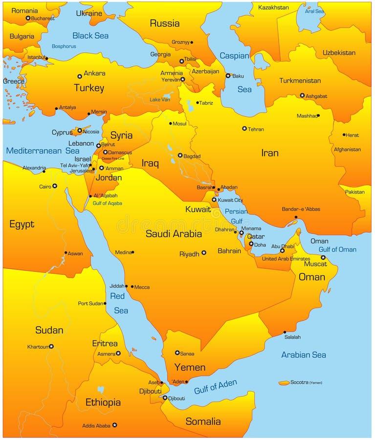 Het Midden-Oosten stock illustratie