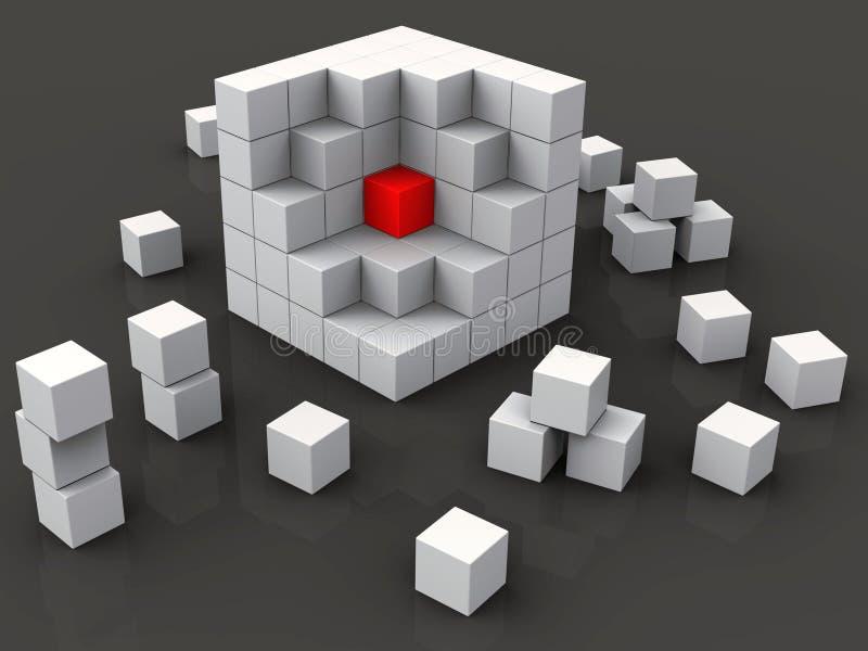 Het midden van Blokken toont Kern royalty-vrije illustratie