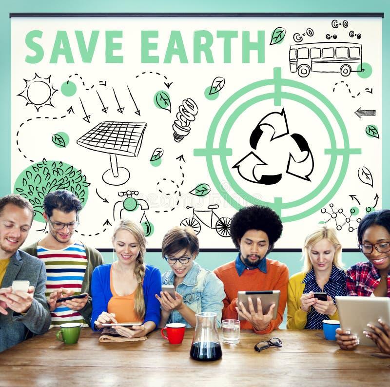 Het Milieu Duurzaam Concept van de ecologie Vriendschappelijk Energie royalty-vrije stock afbeeldingen
