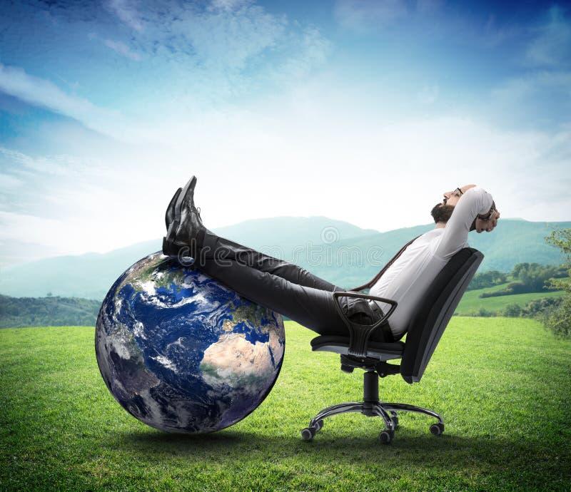Het milieu is nieuwe zaken stock foto