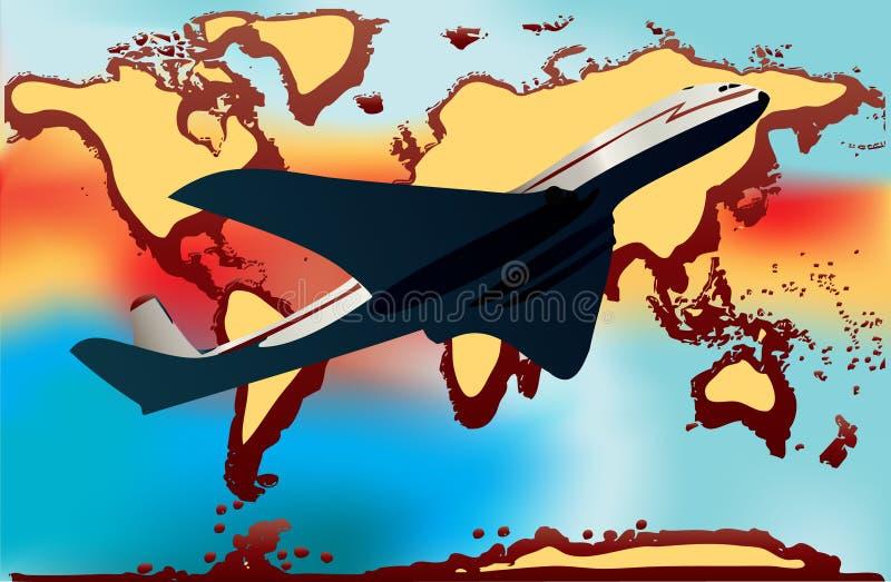 Het Milieu van de luchtvaart stock illustratie