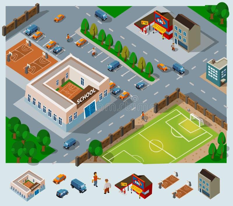 Het milieu van de school vector illustratie