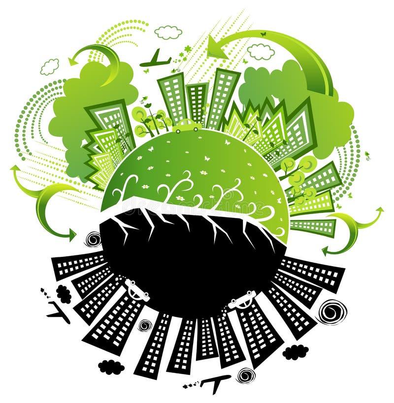 Het milieuvriendelijke leven royalty-vrije illustratie