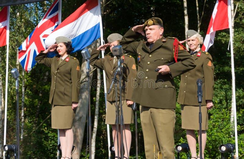 Het militaire leger toont stock foto's
