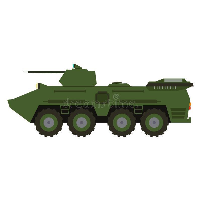 Het militaire materiaal van de voertuigvrachtwagen Zware reserve en speciaal vervoer stock afbeelding