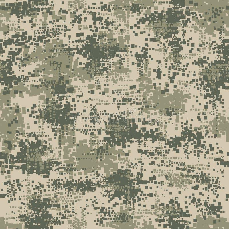 Het militaire naadloze patroon van het leger eenvormige pixel vector illustratie