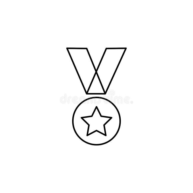 Het militaire pictogram van de medaillelijn vector illustratie