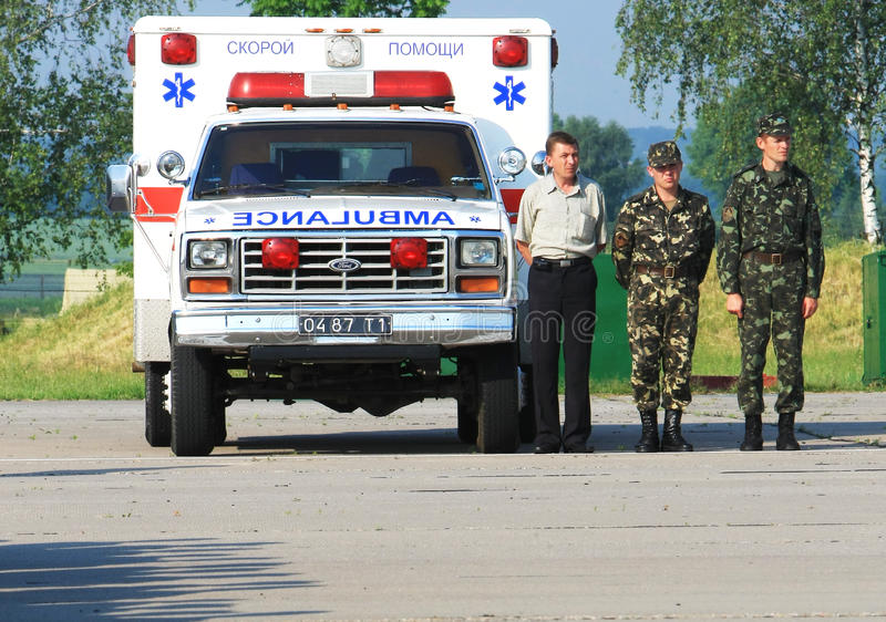 Het militaire ziekenhuis stock afbeeldingen