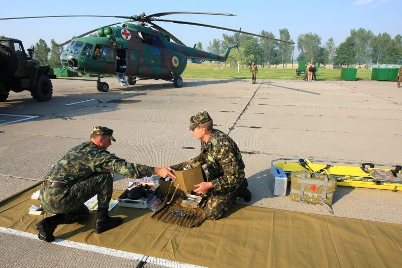 Het militaire ziekenhuis stock foto