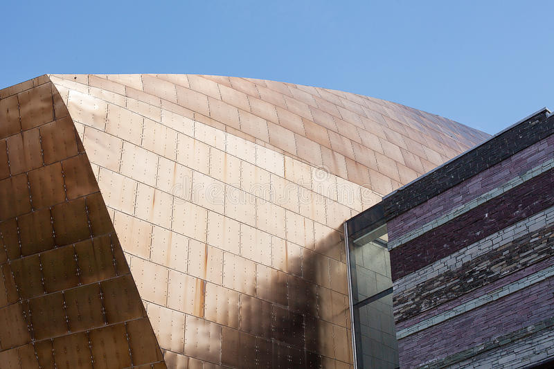 Het Millenniumcentrum van Wales stock foto
