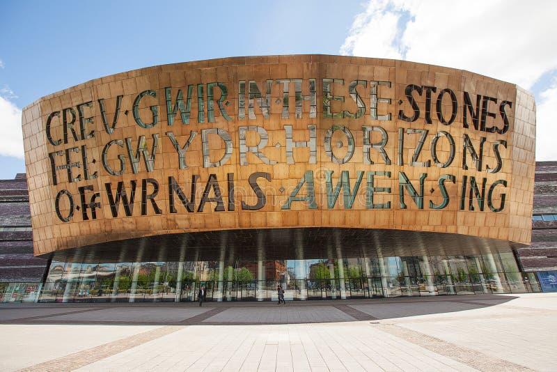 Het Millenniumcentrum van Wales royalty-vrije stock foto's