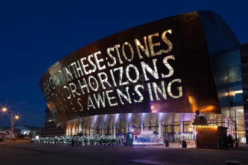 Het Millenniumcentrum van Wales stock afbeelding
