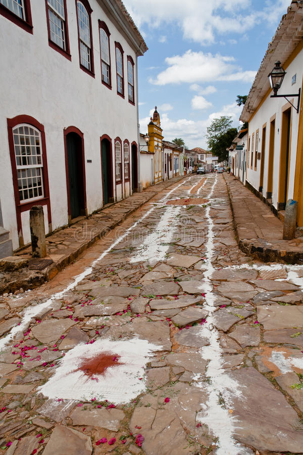 Het Minas Gerais Brazilië van Tiradentes royalty-vrije stock foto's