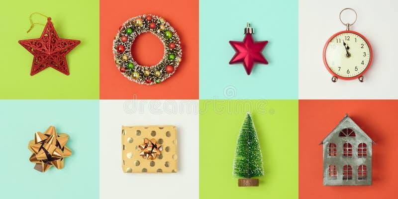 Het minimale concept van de Kerstmisvakantie stock foto