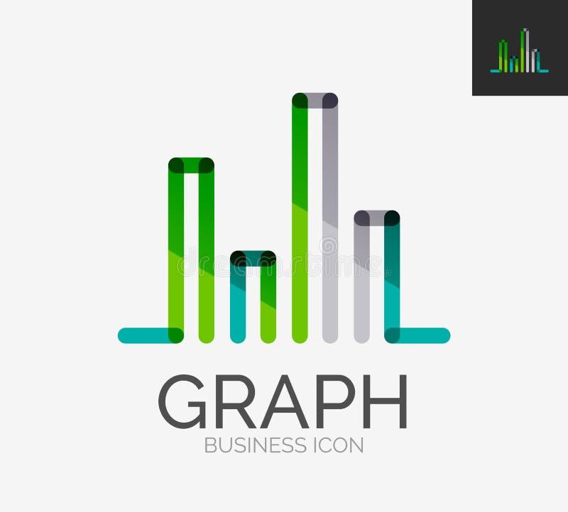Het minimale embleem van het lijnontwerp, grafiek, grafiekpictogram vector illustratie