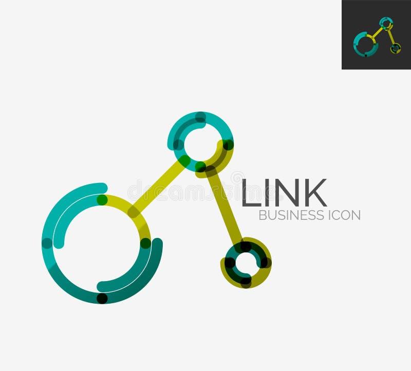 Het minimale embleem van het lijnontwerp, verbindingspictogram royalty-vrije illustratie