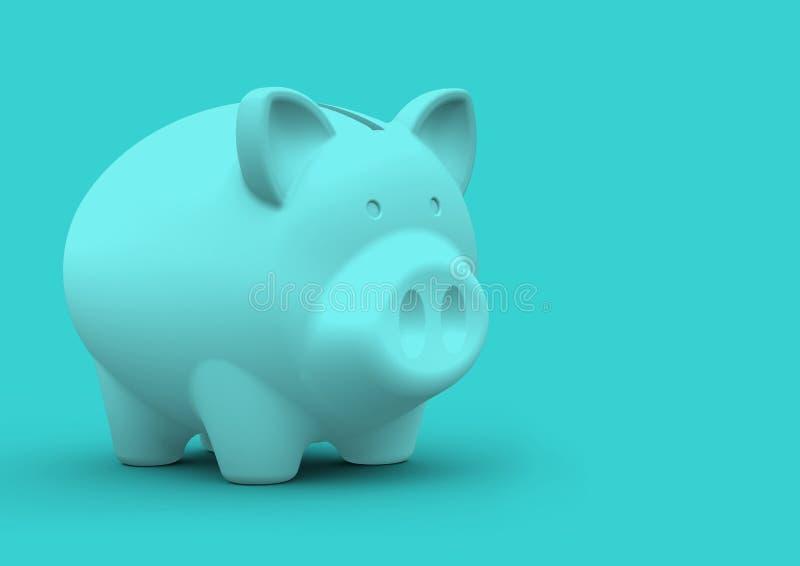 Het minimalistische concept van het spaarvarken voor financiënbesparingen en boekhouding royalty-vrije stock afbeelding