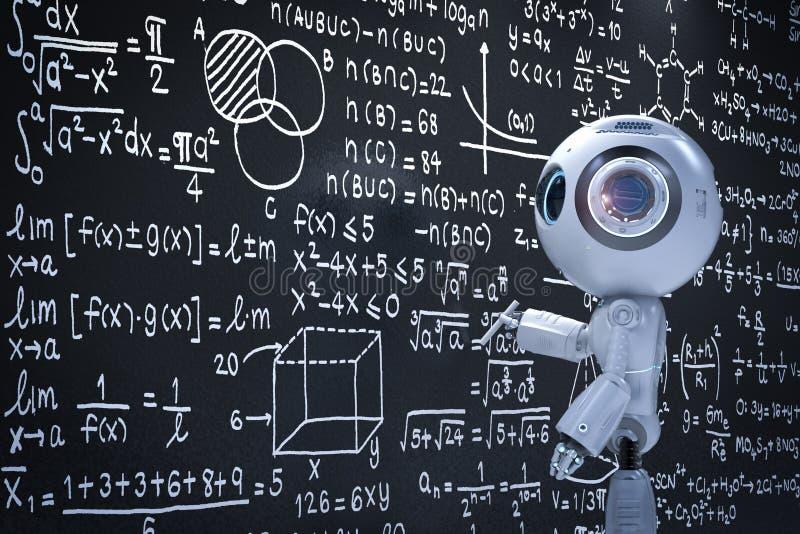 Het minirobot leren royalty-vrije illustratie
