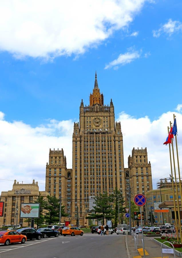 Het Ministerie van Buitenlandse zaken van de Russische Federatie in Mos stock afbeeldingen