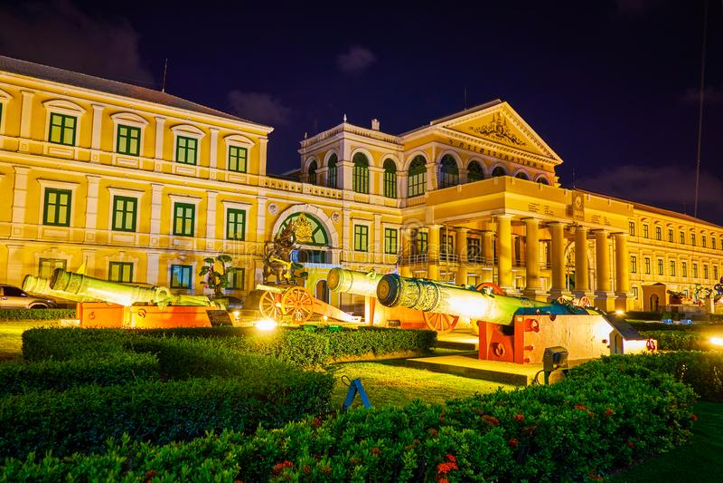Het Ministerie van Defensie in Bangkok, Thailand stock fotografie