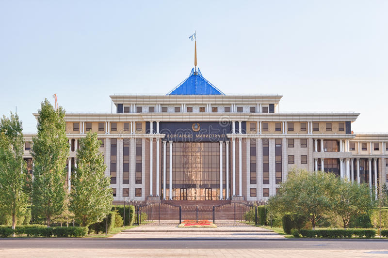 Het Ministerie van Defensie van de Republiek Kazachstan Astana, K stock afbeeldingen