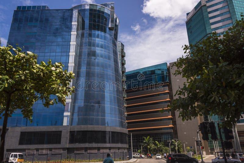 Het Ministerie van Financiën en Raad van Binnenlandse Opbrengst, Wrightson-Road, Haven - van - Spanje, Trinidad bij de kruising m royalty-vrije stock fotografie