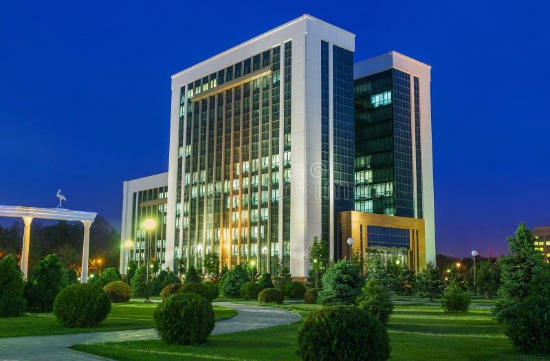 Het Ministerie van Financiën van Oezbekistan stock afbeeldingen
