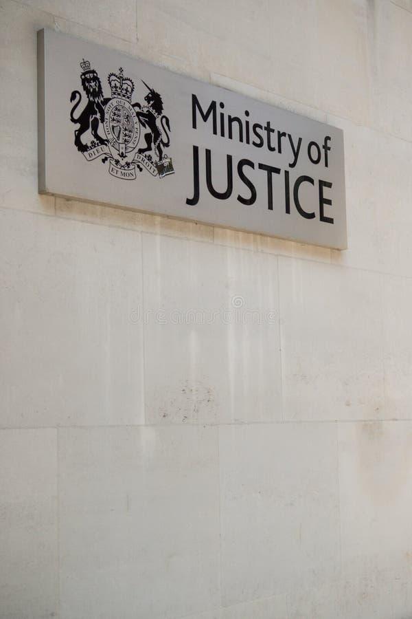Het Ministerie van justitie, Londen, het Verenigd Koninkrijk stock afbeelding
