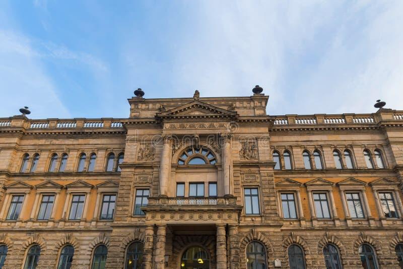 Het Ministerie van Nedersaksen van Financiën in Hanover Duitsland stock foto