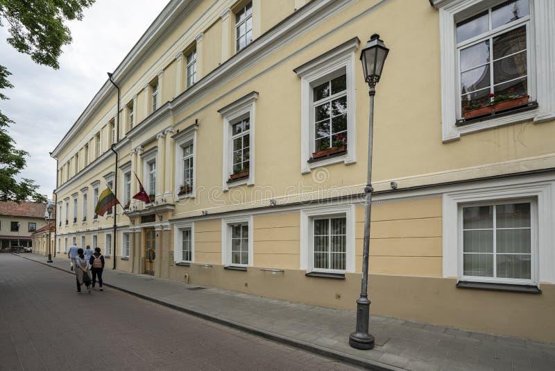 Het Ministerie van Onderwijs en Wetenschap in Vilnius royalty-vrije stock foto's