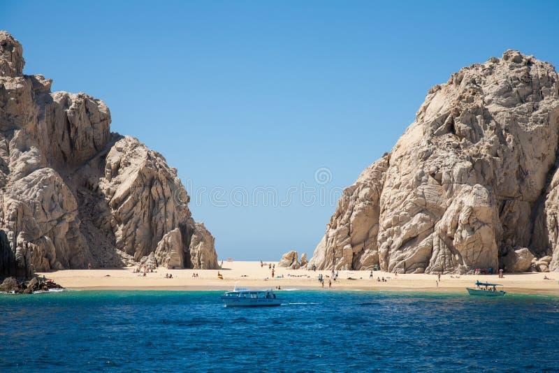 Het Minnaar` s strand in Cabo San Lucas royalty-vrije stock fotografie