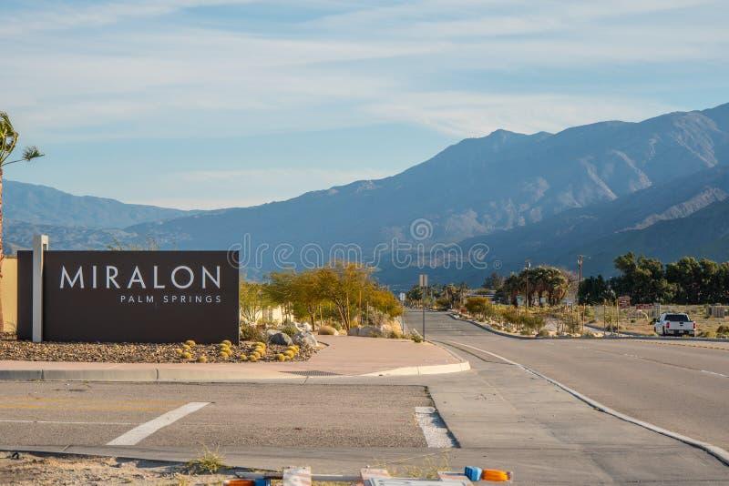 Het Miralon-Palm Springs - CALIFORNIÃ‹, de V.S. - 18 MAART, 2019 royalty-vrije stock afbeelding
