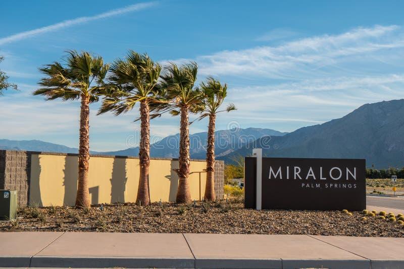 Het Miralon-Palm Springs - CALIFORNIÃ‹, de V.S. - 18 MAART, 2019 royalty-vrije stock foto