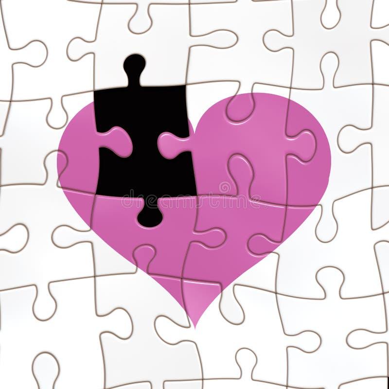 Het missen van een stuk van het hart royalty-vrije illustratie