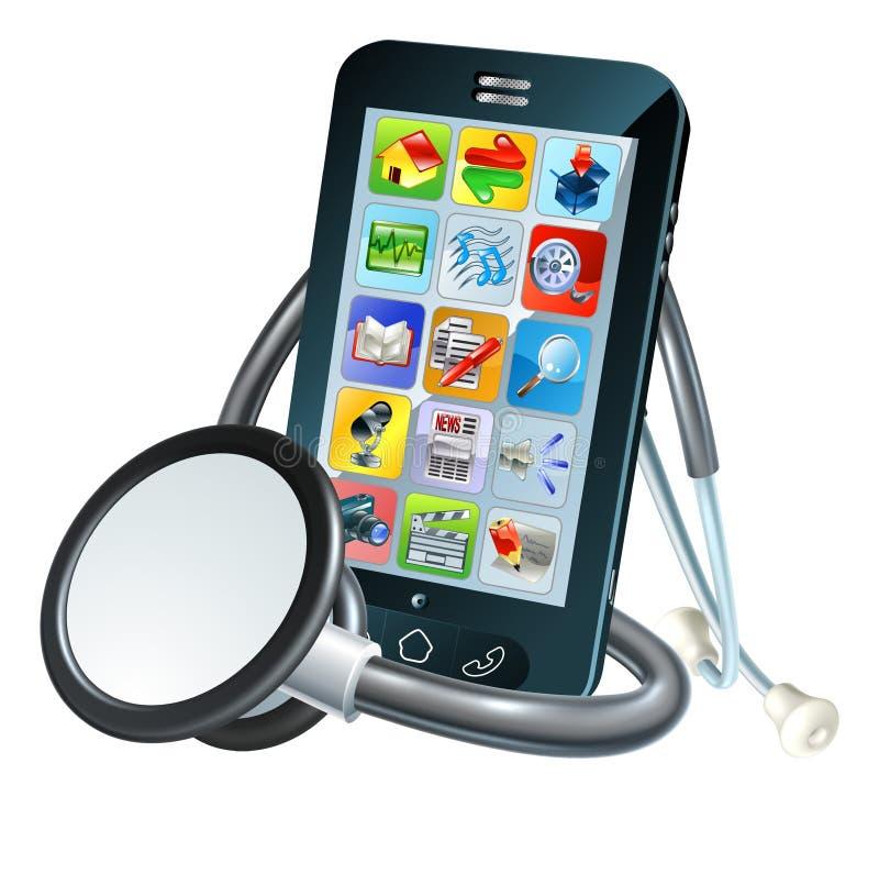 Het mobiele Concept van de Telefoongezondheid stock illustratie
