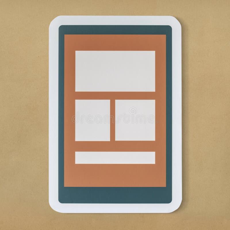 Het mobiele grafische pictogram van de toepassingstechnologie vector illustratie