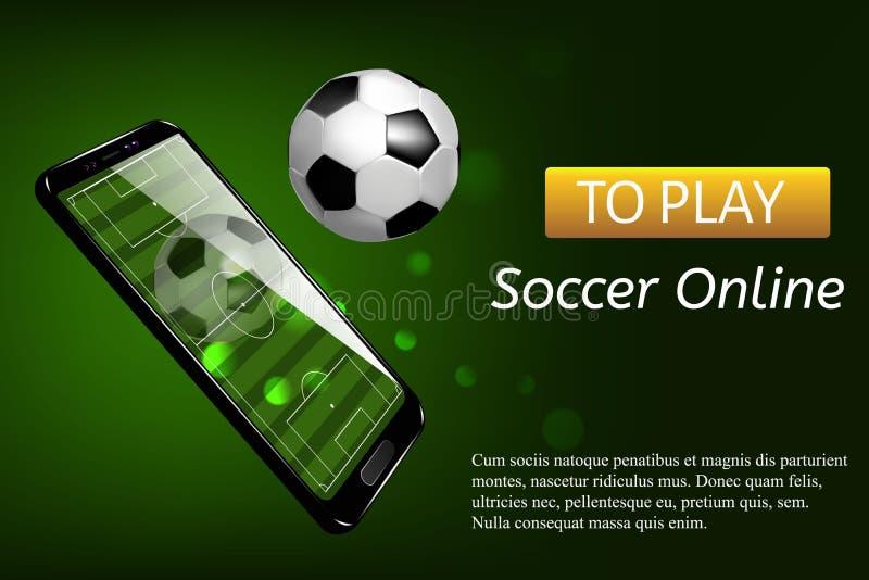 Het mobiele levende scorebord van de voetbalvoetbal royalty-vrije illustratie