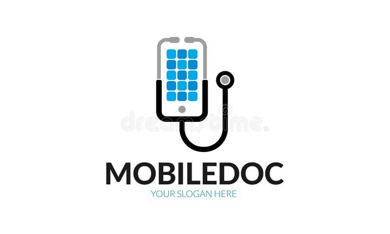 Het mobiele malplaatje van het artsenembleem royalty-vrije illustratie