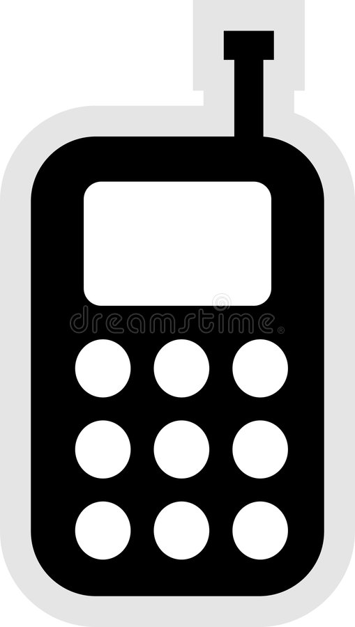 Het mobiele Pictogram van de Telefoon stock illustratie