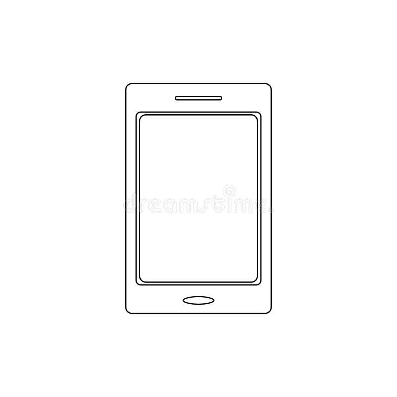Het mobiele pictogram van het telefoonoverzicht De tekens en de symbolen kunnen voor Web, embleem, mobiele toepassing, UI, UX wor stock illustratie