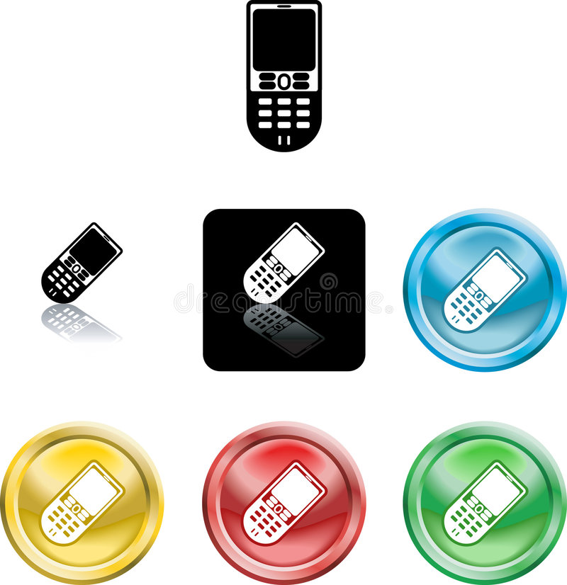 Het mobiele symbool van het telefoonpictogram vector illustratie
