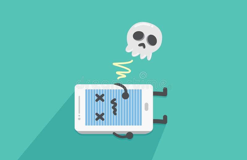 Het mobiele telefooneinde werken royalty-vrije illustratie