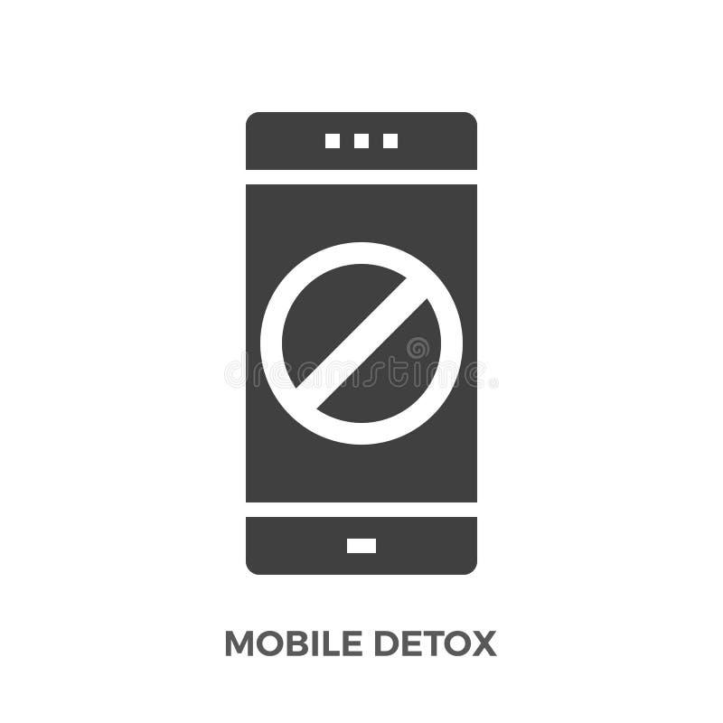 Het mobiele Vectorpictogram van Detox Glyph vector illustratie