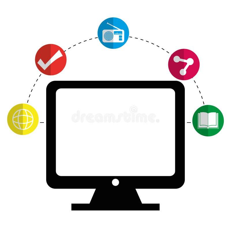 Het mobiele vermaak van de toepassingenwinkel vector illustratie