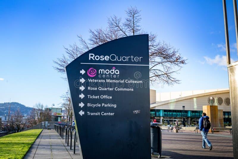 Het Modacentrum, vroeger als Rose Garden wordt bekend, is primaire I die stock foto