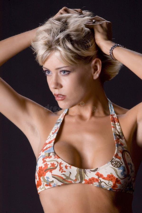 Download Het Model Met Dient Haar In Stock Foto - Afbeelding bestaande uit bikini, taal: 283090