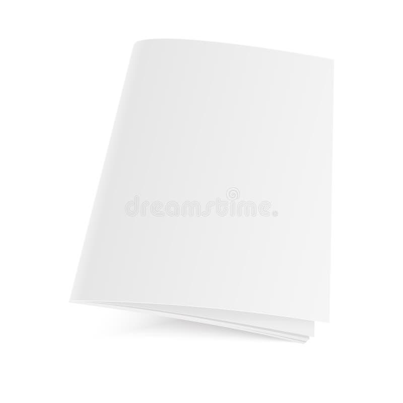 Het model sloot tijdschrift, dagboek, boekje, prentbriefkaar, vlieger, adreskaartje of brochure Vector illustratie royalty-vrije illustratie