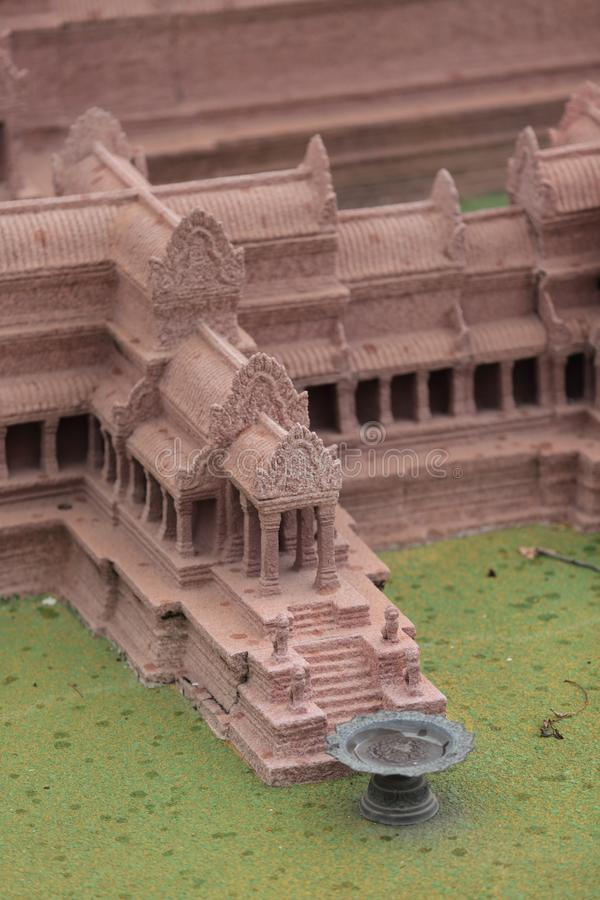 Het model van Angkorwat, Phnom Penh, Kambodja stock fotografie