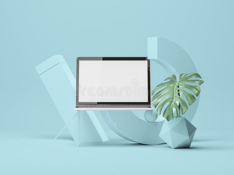 Het Model van het apparatenscherm 3D Illustratie stock illustratie